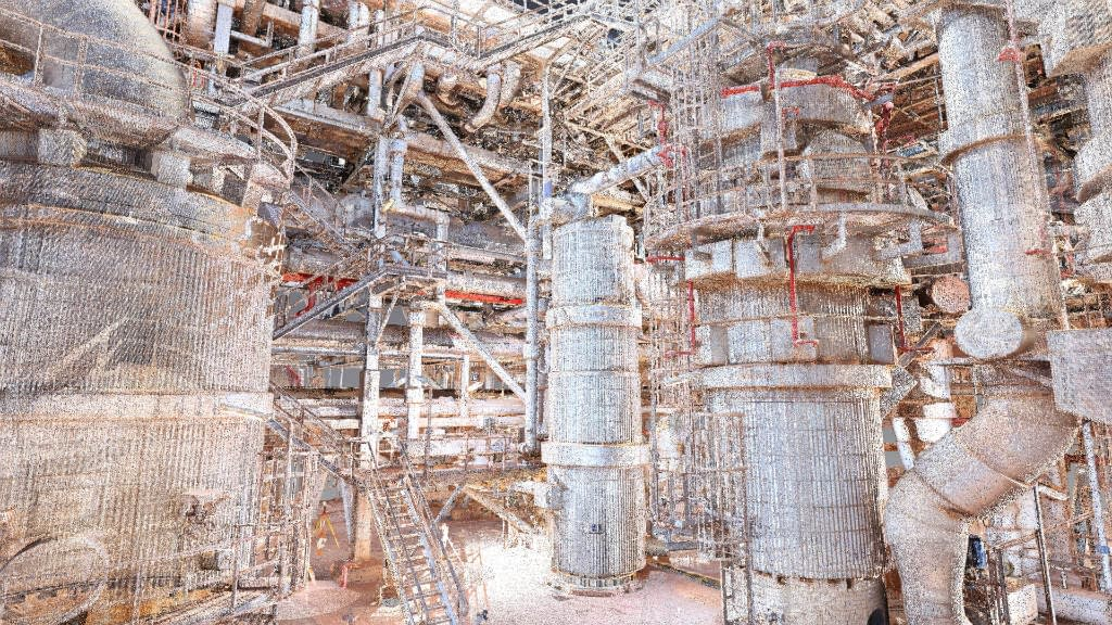 Coloured 3D Laser Scan of LNG Process Plant