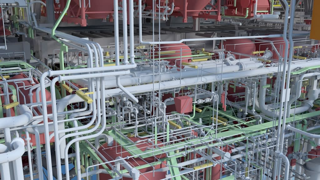 Intelligent CAD Model Created with Photogrammetry of Gas Production Platform used as a Digital Twin