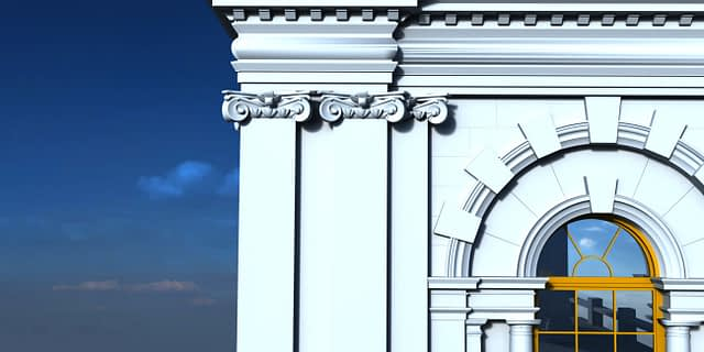 3D CAD Model of Building Facade Created Using Photogrammetry
