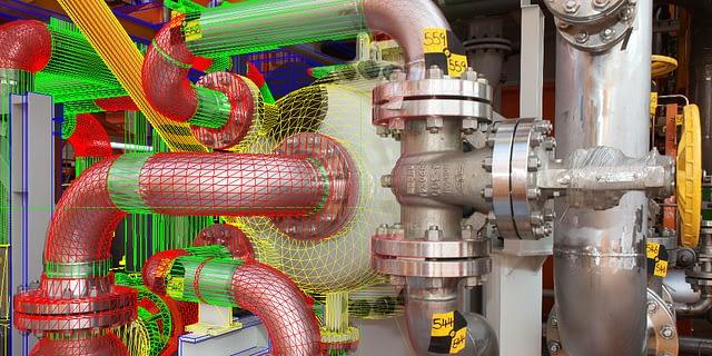 3D CAD Model Overlaid onto a Photogrammetric Survey Image