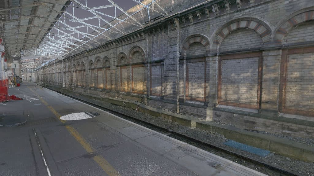 Coloured 3D Laser Scan of Crewe Railway Station