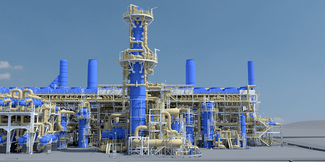 Intelligent Digital Twin 3D CAD Model Created by 3D Laser Scanning a Liquified Natural Gas (LNG) Train